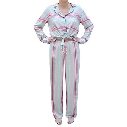 Pijama Listas Royal Rosa
