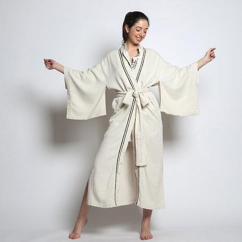 Kimono Longo Godiva Bordado