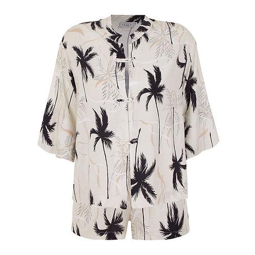 Conj. Shorts Oriental Palmeira