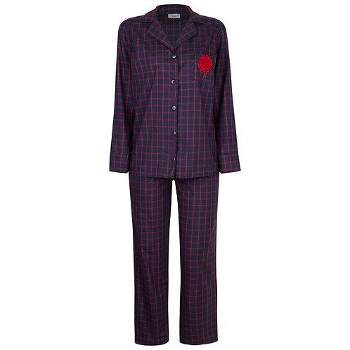 Pijama Xadrez Marinho e Vermelho