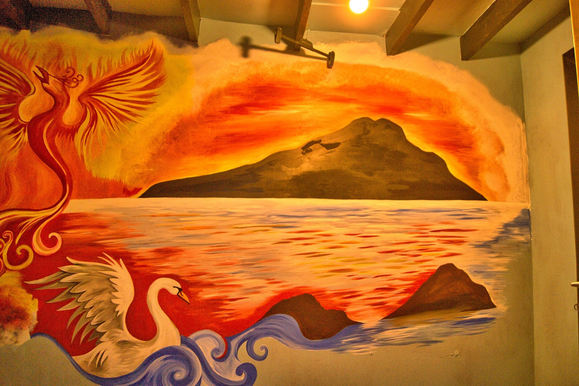 Holy Isle with Swan and Phoenix
