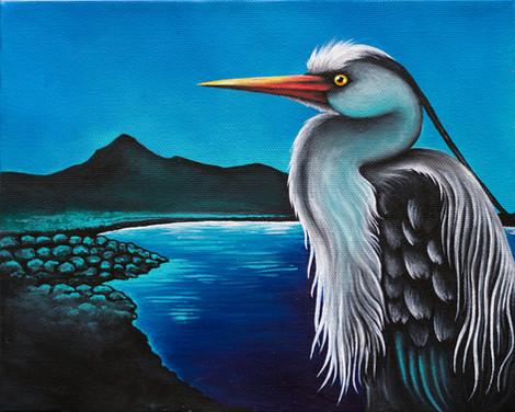 Grey Heron Over Cladach
