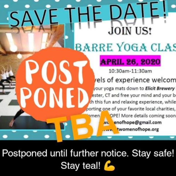 Barre Yoga Class Postponed