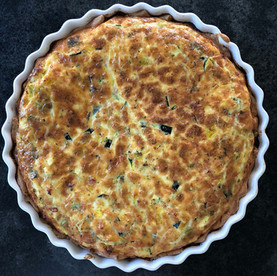 Zuchini-Schinken-Quiche