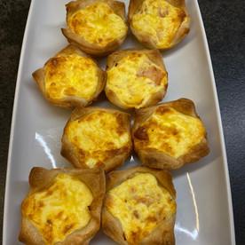 Schinken-Käse-Tartelettes