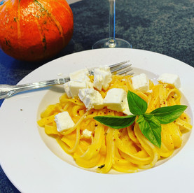 Schnelle Kürbissauce (für Pasta)