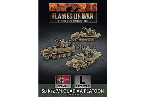 Flames Of War - Sd Kfz 7/1 Quad AA Platoon - Late War