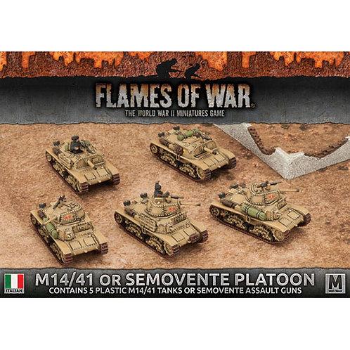 Flames Of War - M14/41 or Semovente Platoon [IBX14]
