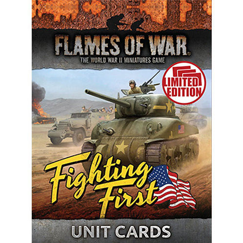 Flames Of War - Fighting First Unit Cards