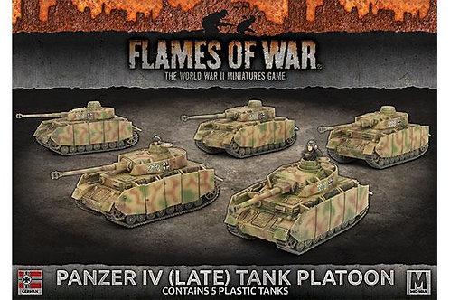 Flames Of War - Panzer IV (Late) Tank Platoon