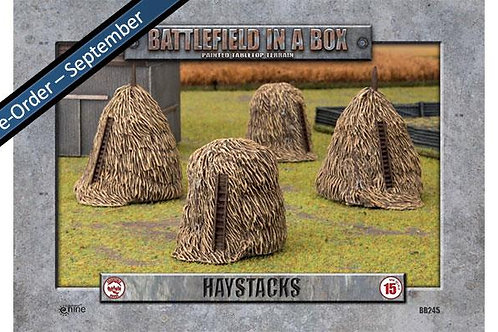 Flames Of War - Haystacks (x4)