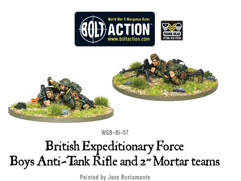 "BEF anti-tank rifle and 2"" light mortar teams"