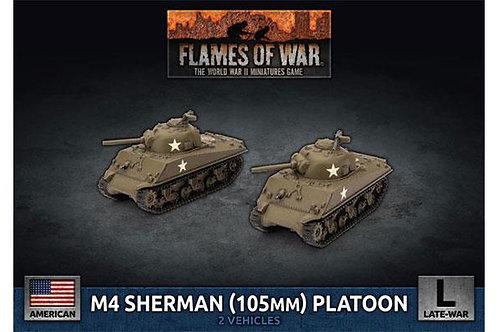 Flames Of War - M4 Sherman (105mm) Assault Gun Platoon [UBX71]