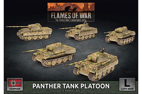 Flames Of War - Panther Tank Platoon - Late War