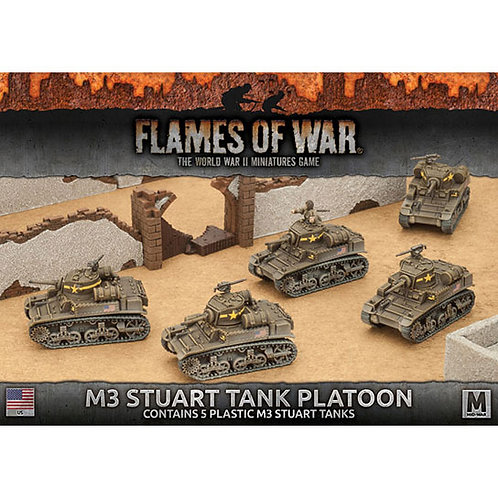 Flames Of War - M3 Stuart Light Tank Platoon (Plastic) [UBX56]