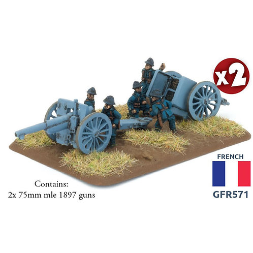 75mm mle 1897 gun (French) (x2)