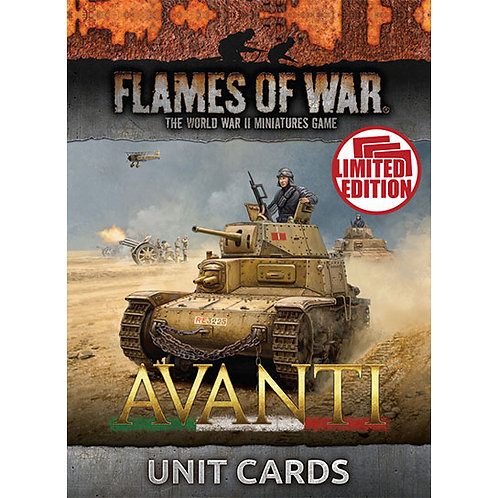Flames Of War - Avanti Unit Cards