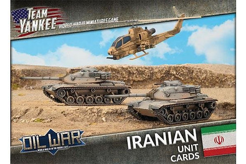 Team Yankee Oil War - Iranian Unit Cards