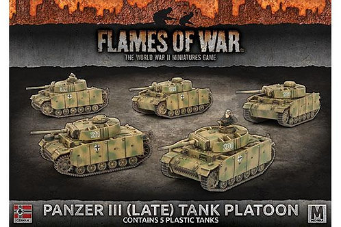 Flames Of War - Panzer III (Late) Tank Platoon