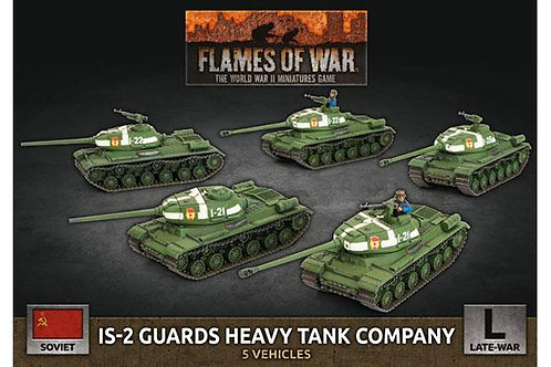 Flames Of War - Soviet IS-2 Guards Heavy Tank Company (x5 Plastic)