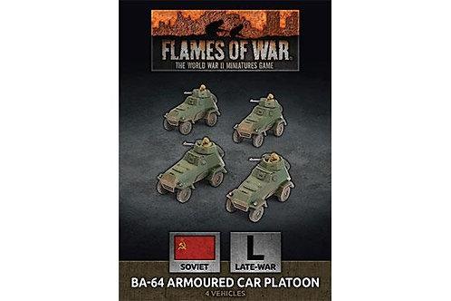 Flames Of War - Soviet BA-64 Armoured Car Platoon (x4 Plastic)