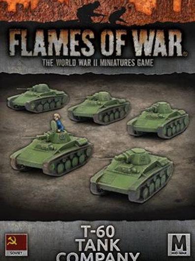 Flames Of War - T-60 Tank Company [SBX45]