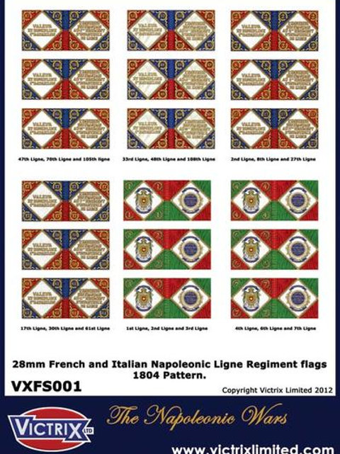 VICTRIX - French and Italian A4 1804 issue infantry flags