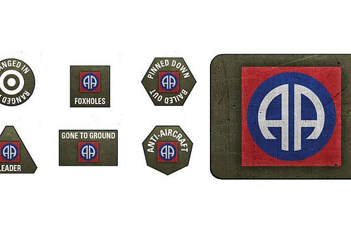 Flames Of War - 82nd Airborne Division Token & Objective Set [US905]
