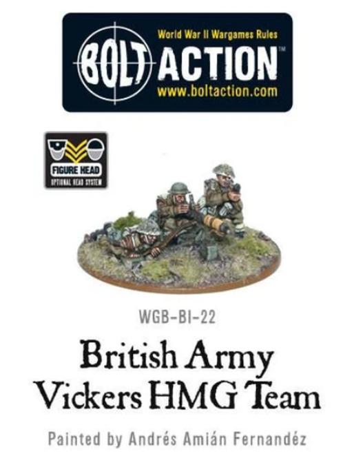 British Army Vickers MG Team