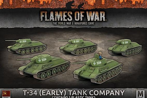 Flames Of War - T-34 (Early) Tank Company [SBX39]