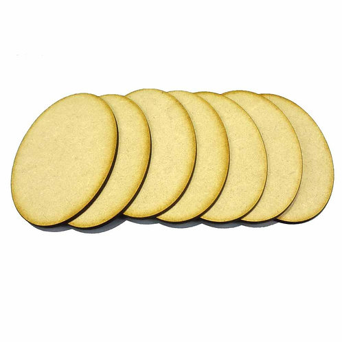 7 x [105mm x 70mm] Oval MDF Bases