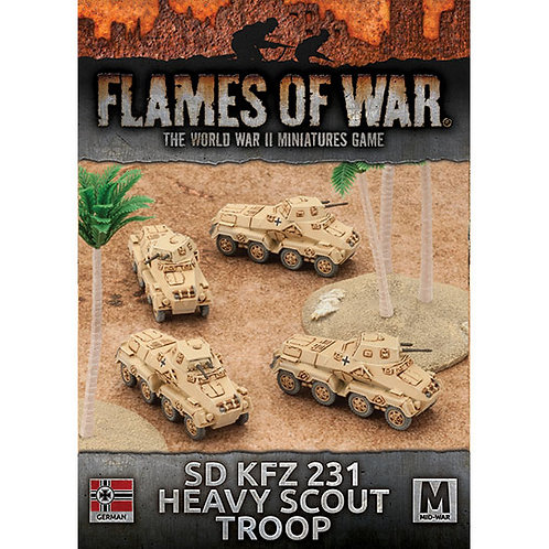 Flames Of War - Sd Kfz 231 Heavy Scout Troop