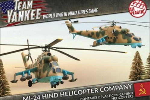 Team Yankee - Mi-24 Hind Helicopter Company (x2) (Plastic)