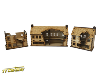 15mm Ruined Shops