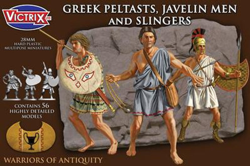 VICTRIX - 28mm Greek Peltasts, Javelin Men and Slingers