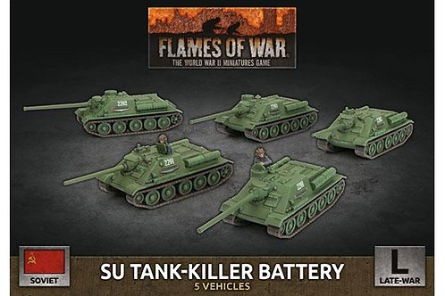 Flames Of War - Soviet SU Tank-Killer Battery (x5 Plastic)