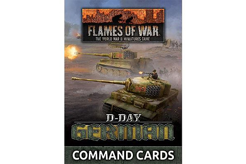 Flames Of War - D-Day: German Command Cards