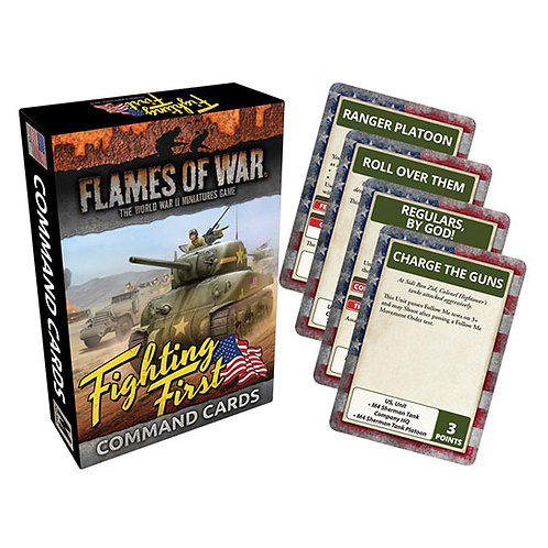 Flames Of War - Fighting First Command Cards