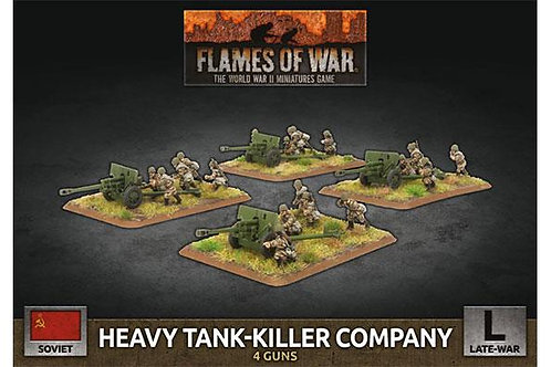 Flames Of War - Soviet Heavy Tank-Killer Company (x4 Plastic)