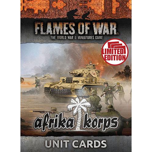 Flames Of War - Afrika Korps Unit Cards