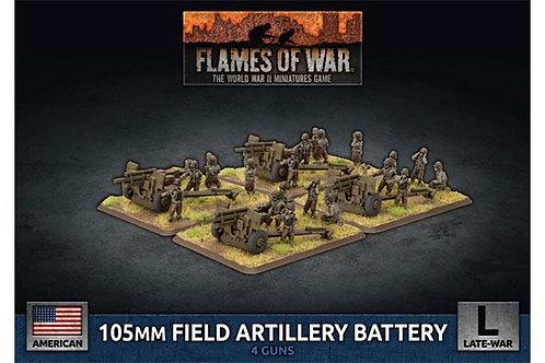 Flames Of War - 105mm Field Artillery Battery (x4 Plastic) [UBX77]