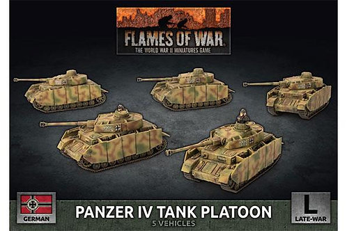 Flames Of War - Panzer IV Tank Platoon