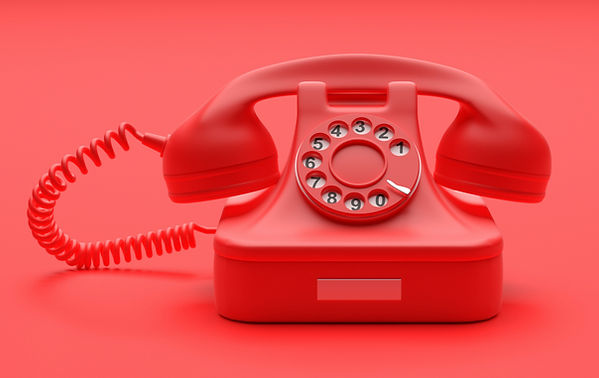 telephone-vintage-on-red-color-backgroun