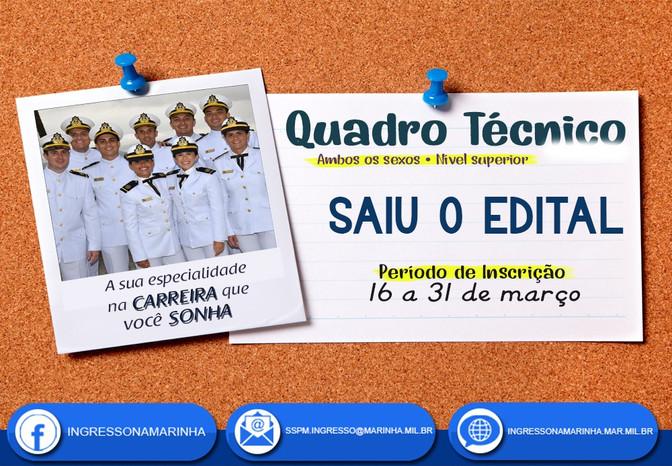 Edital aberto Marinha do Brasil