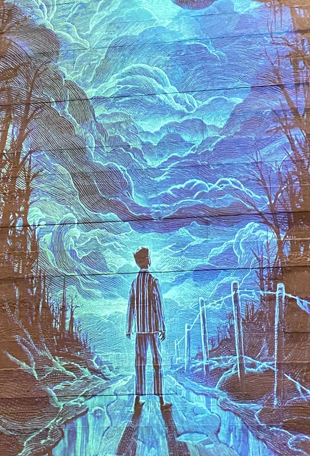 Esse é o lindo cartaz da peça The Ocean at the End of the Lane (Foto. Divulgação)