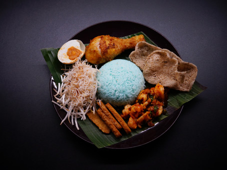 Nasi Kerabu - The Royal Blue Rice of Kelantan