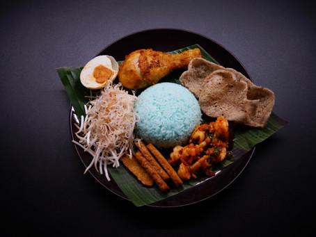 Nasi Kerabu - The Royal Blue Rice of Kelantan