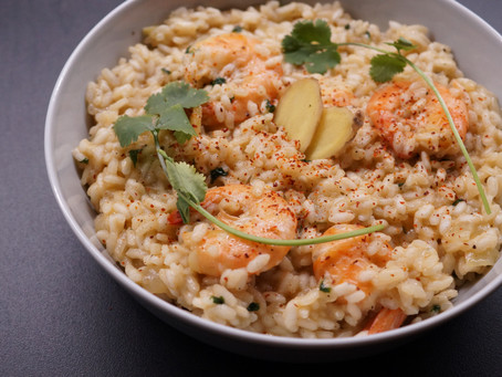 Bringing The Asian Heat To An Italian Prawn Risotto
