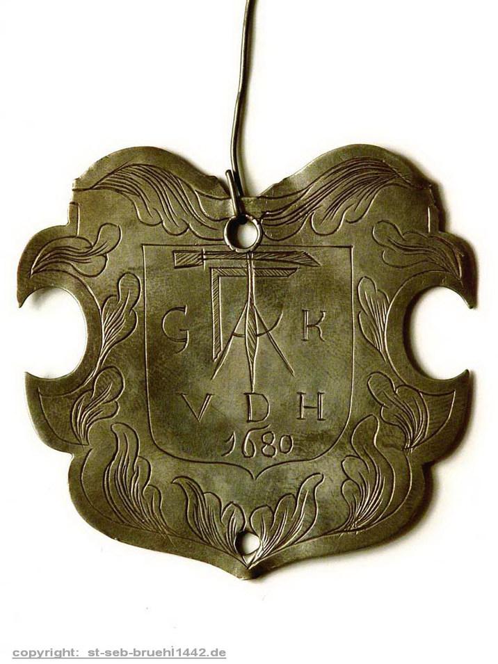 Schützenschild 1680