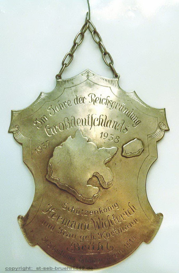 Schützenschild 1937